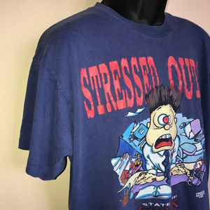 Vintage Shirts - 90s Stressed Out Stock Broker Shirt Wall Street